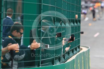 World © Octane Photographic Ltd. Formula 1 – Belgian GP - Qualifying . Fans with camera phones. Spa-Francorchamps, Belgium. Saturday 25th August 2018.