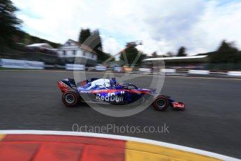 World © Octane Photographic Ltd. Formula 1 – Belgian GP - Qualifying. Scuderia Toro Rosso STR13 – Brendon Hartley. Spa-Francorchamps, Belgium. Saturday 25th August 2018.