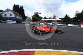 World © Octane Photographic Ltd. Formula 1 – Belgian GP - Qualifying. Scuderia Ferrari SF71-H – Kimi Raikkonen. Spa-Francorchamps, Belgium. Saturday 25th August 2018.