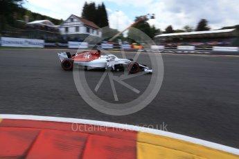 World © Octane Photographic Ltd. Formula 1 – Belgian GP - Qualifying. Alfa Romeo Sauber F1 Team C37 – Marcus Ericsson. Spa-Francorchamps, Belgium. Saturday 25th August 2018.