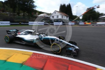World © Octane Photographic Ltd. Formula 1 – Belgian GP - Qualifying. Mercedes AMG Petronas Motorsport AMG F1 W09 EQ Power+ - Lewis Hamilton. Spa-Francorchamps, Belgium. Saturday 25th August 2018.
