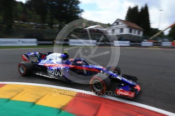 World © Octane Photographic Ltd. Formula 1 – Belgian GP - Qualifying. Scuderia Toro Rosso STR13 – Pierre Gasly. Spa-Francorchamps, Belgium. Saturday 25th August 2018.