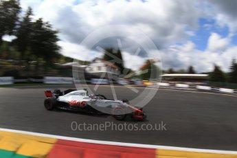 World © Octane Photographic Ltd. Formula 1 – Belgian GP - Qualifying. Haas F1 Team VF-18 – Romain Grosjean. Spa-Francorchamps, Belgium. Saturday 25th August 2018.