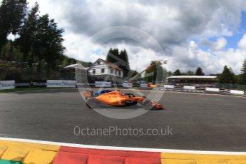 World © Octane Photographic Ltd. Formula 1 – Belgian GP - Qualifying. McLaren MCL33 – Stoffel Vandoorne. Spa-Francorchamps, Belgium. Saturday 25th August 2018.
