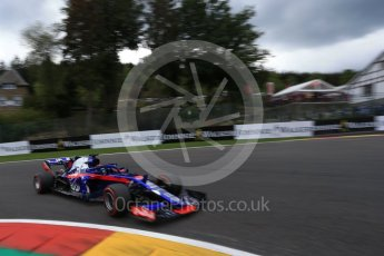World © Octane Photographic Ltd. Formula 1 – Belgian GP - Qualifying. Scuderia Toro Rosso STR13 – Brendon Hartley. Spa-Francorchamps, Belgium. Saturday 25th August 2018.