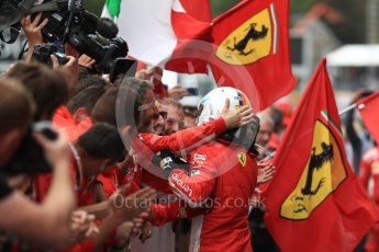 World © Octane Photographic Ltd. Formula 1 – Belgian GP - Race Podium. Scuderia Ferrari SF71-H – Sebastian Vettel. Spa-Francorchamps, Belgium. Sunday 26th August 2018.