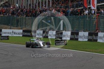 World © Octane Photographic Ltd. Formula 1 – Belgian GP - Race. Mercedes AMG Petronas Motorsport AMG F1 W09 EQ Power+ - Lewis Hamilton. Spa-Francorchamps, Belgium. Sunday 26th August 2018.