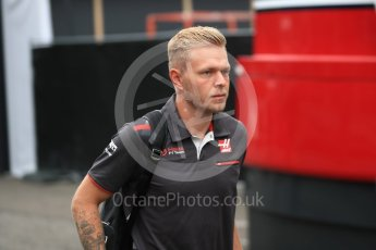 World © Octane Photographic Ltd. Formula 1 – Belgian GP - Paddock. Haas F1 Team VF-18 – Kevin Magnussen. Spa-Francorchamps, Belgium. Friday 24th August 2018.