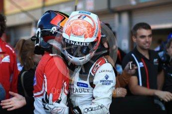 World © Octane Photographic Ltd. GP3 – Belgian GP – Race 2. ART Grand Prix - Nikita Mazepin and Anthoine Hubert. Spa Francorchamps, Belgium. Sunday 26th August 2018.