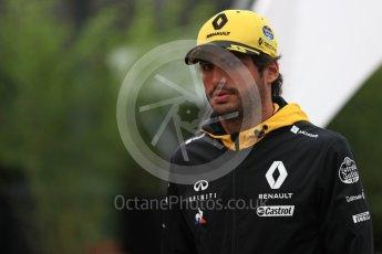 World © Octane Photographic Ltd. Formula 1 – Belgian GP - Paddock. Renault Sport F1 Team RS18 – Carlos Sainz. Spa-Francorchamps, Belgium. Saturday 25th August 2018.