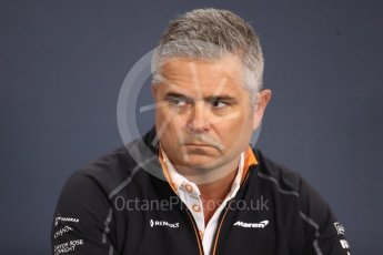 World © Octane Photographic Ltd. Formula 1 - Belgian GP - Friday FIA Team Press Conference. Gil De Ferran - Sporting Director of McLaren. Spa-Francorchamps, Belgium. Friday 24th August 2018.