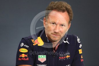 World © Octane Photographic Ltd. Formula 1 - Belgian GP - Friday FIA Team Press Conference. Christian Horner - Team Principal of Red Bull Racing. Spa-Francorchamps, Belgium. Friday 24th August 2018.