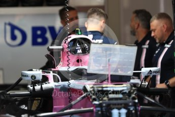 World © Octane Photographic Ltd. Formula 1 – Belgian GP - Pit Lane. Force India VJM11. Spa-Francorchamps, Belgium. Thursday 23rd August 2018.