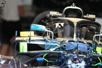 World © Octane Photographic Ltd. Formula 1 – Belgian GP - Pit Lane. Mercedes AMG Petronas Motorsport AMG F1 W09 EQ Power+. Spa-Francorchamps, Belgium. Thursday 23rd August 2018.