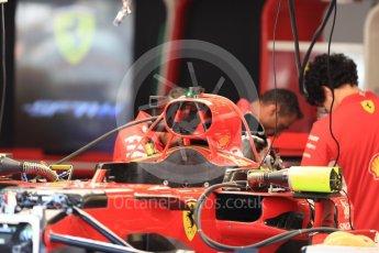 World © Octane Photographic Ltd. Formula 1 – Belgian GP - Pit Lane. Scuderia Ferrari SF71-H. Spa-Francorchamps, Belgium. Thursday 23rd August 2018.