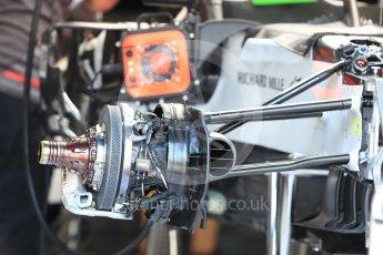 World © Octane Photographic Ltd. Formula 1 – Belgian GP - Pit Lane. Haas F1 Team VF-18. Spa-Francorchamps, Belgium. Thursday 23rd August 2018.