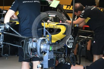World © Octane Photographic Ltd. Formula 1 – Belgian GP - Pit Lane. Renault Sport F1 Team RS18. Spa-Francorchamps, Belgium. Thursday 23rd August 2018.
