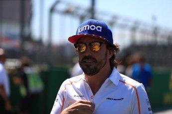 World © Octane Photographic Ltd. Formula 1 – British GP - Drivers' Parade. McLaren MCL33 – Fernando Alonso. Silverstone Circuit, Towcester, UK. Sunday 8th July 2018.