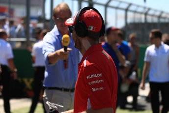 World © Octane Photographic Ltd. Formula 1 – British GP - Drivers' Parade. Scuderia Ferrari SF71-H – Sebastian Vettel. Silverstone Circuit, Towcester, UK. Sunday 8th July 2018.