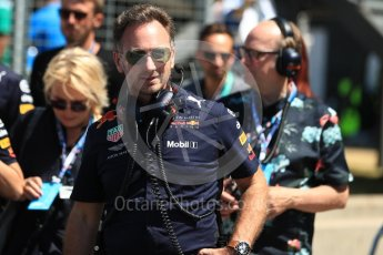 World © Octane Photographic Ltd. Formula 1 - British GP - Grid. Christian Horner - Team Principal of Red Bull Racing. Silverstone Circuit, Towcester, UK. Sunday 8th July 2018.