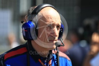 World © Octane Photographic Ltd. Formula 1 - British GP - Grid. Franz Tost – Team Principal of Scuderia Toro Rosso. Silverstone Circuit, Towcester, UK. Sunday 8th July 2018.
