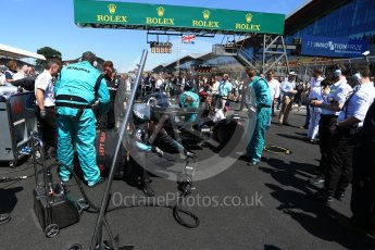 World © Octane Photographic Ltd. Formula 1 – British GP - Grid. Mercedes AMG Petronas Motorsport AMG F1 W09 EQ Power+ - Lewis Hamilton. Silverstone Circuit, Towcester, UK. Sunday 8th July 2018.