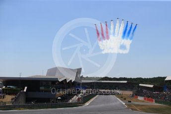 World © Octane Photographic Ltd. Formula 1 – British GP - Grid. Royal Air Force display team - The Red Arrows, British Aerospace BAe Hawk T1a. Silverstone Circuit, Towcester, UK. Sunday 8th July 2018.