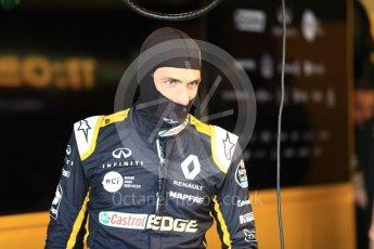 World © Octane Photographic Ltd. Formula 1 – British GP - Paddock. Renault Sport F1 Team RS18 – Carlos Sainz. Silverstone Circuit, Towcester, UK. Saturday 7th July 2018.