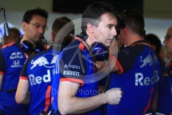 World © Octane Photographic Ltd. Formula 1 - British GP - Practice 3. James Key – Technical Director of Racing of Scuderia Toro Rosso. Silverstone Circuit, Towcester, UK. Saturday7th July 2018.