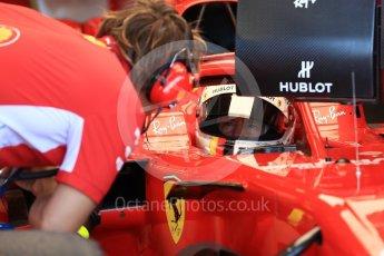 World © Octane Photographic Ltd. Formula 1 – British GP - Paddock. Scuderia Ferrari SF71-H – Sebastian Vettel. Silverstone Circuit, Towcester, UK. Saturday 7th July 2018.