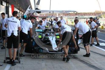 World © Octane Photographic Ltd. Formula 1 – British GP - Paddock. Mercedes AMG Petronas Motorsport AMG F1 W09 EQ Power+ - Valtteri Bottas. Silverstone Circuit, Towcester, UK. Saturday 7th July 2018.