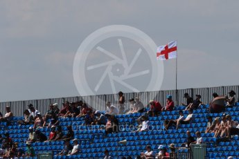 World © Octane Photographic Ltd. Formula 1 – British GP - Qualifying. Fans in the grandstands with England flag Silverstone Circuit, Towcester, UK. Saturday 7th July 2018.