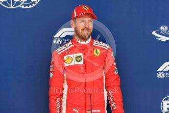 World © Octane Photographic Ltd. Formula 1 – British GP - Qualifying. Scuderia Ferrari SF71-H – Sebastian Vettel. Silverstone Circuit, Towcester, UK. Saturday 7th July 2018.