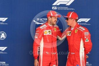 World © Octane Photographic Ltd. Formula 1 – British GP - Qualifying. Scuderia Ferrari SF71-H – Sebastian Vettel and Kimi Raikkonen. Silverstone Circuit, Towcester, UK. Saturday 7th July 2018.