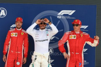 World © Octane Photographic Ltd. Formula 1 – British GP - Qualifying. Mercedes AMG Petronas Motorsport AMG F1 W09 EQ Power+ - Lewis Hamilton and Scuderia Ferrari SF71-H – Sebastian Vettel and Kimi Raikkonen. Silverstone Circuit, Towcester, UK. Saturday 7th July 2018.