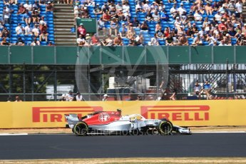 World © Octane Photographic Ltd. Formula 1 – British GP - Qualifying. Alfa Romeo Sauber F1 Team C37 – Charles Leclerc. Silverstone Circuit, Towcester, UK. Saturday 7th July 2018.