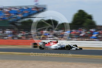 World © Octane Photographic Ltd. Formula 1 – British GP - Qualifying. Alfa Romeo Sauber F1 Team C37 – Charles Leclerc. Silverstone Circuit, Towcester, UK. Saturday 7th July 2018.