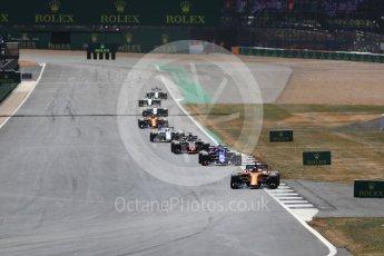 World © Octane Photographic Ltd. Formula 1 – British GP - Race. McLaren MCL33 – Fernando Alonso. Silverstone Circuit, Towcester, UK. Sunday 8th July 2018.