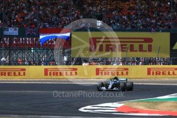 World © Octane Photographic Ltd. Formula 1 – British GP - Race. Mercedes AMG Petronas Motorsport AMG F1 W09 EQ Power+ - Valtteri Bottas. Silverstone Circuit, Towcester, UK. Sunday 8th July 2018.