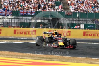 World © Octane Photographic Ltd. Formula 1 – British GP - Race. Aston Martin Red Bull Racing TAG Heuer RB14 – Max Verstappen. Silverstone Circuit, Towcester, UK. Sunday 8th July 2018.
