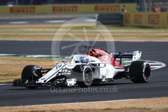 World © Octane Photographic Ltd. Formula 1 – British GP - Practice 1. Alfa Romeo Sauber F1 Team C37 – Marcus Ericsson. Silverstone Circuit, Towcester, UK. Friday 6th July 2018.