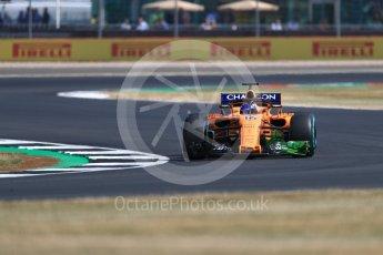 World © Octane Photographic Ltd. Formula 1 – British GP - Practice 1. McLaren MCL33 – Fernando Alonso. Silverstone Circuit, Towcester, UK. Friday 6th July 2018.