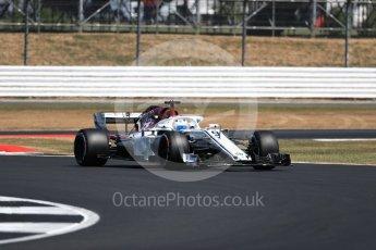 World © Octane Photographic Ltd. Formula 1 – British GP - Practice 2. Alfa Romeo Sauber F1 Team C37 – Marcus Ericsson. Silverstone Circuit, Towcester, UK. Friday 6th July 2018.