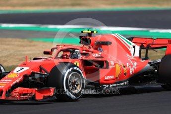 World © Octane Photographic Ltd. Formula 1 – British GP - Practice 2. Scuderia Ferrari SF71-H – Kimi Raikkonen. Silverstone Circuit, Towcester, UK. Friday 6th July 2018.