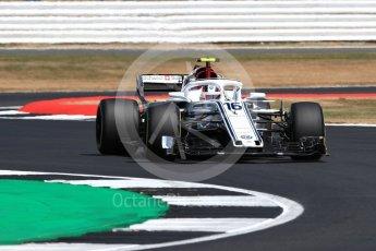 World © Octane Photographic Ltd. Formula 1 – British GP - Practice 2. Alfa Romeo Sauber F1 Team C37 – Charles Leclerc. Silverstone Circuit, Towcester, UK. Friday 6th July 2018.