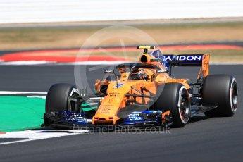 World © Octane Photographic Ltd. Formula 1 – British GP - Practice 2. McLaren MCL33 – Stoffel Vandoorne. Silverstone Circuit, Towcester, UK. Friday 6th July 2018.