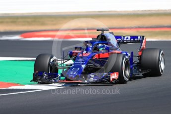 World © Octane Photographic Ltd. Formula 1 – British GP - Practice 2. Scuderia Toro Rosso STR13 – Brendon Hartley. Silverstone Circuit, Towcester, UK. Friday 6th July 2018.