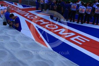 World © Octane Photographic Ltd. GP3 – British GP – Race 2. It's Coming Home pitman artwork. Silverstone Circuit, Towcester, UK. Sunday 8th July 2018.