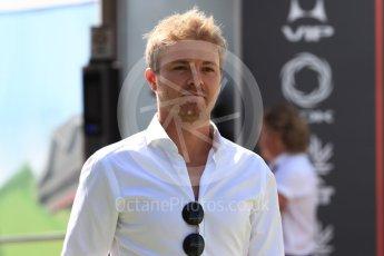 World © Octane Photographic Ltd. Formula 1 – British GP - Paddock. Nico Rosberg. Silverstone Circuit, Towcester, UK. Saturday 7th July 2018.