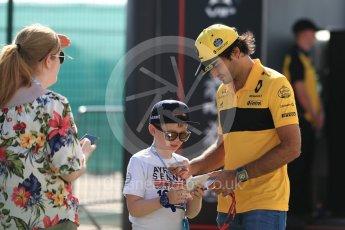 World © Octane Photographic Ltd. Formula 1 – British GP - Paddock. Renault Sport F1 Team RS18 – Carlos Sainz. Silverstone Circuit, Towcester, UK. Sunday 8th July 2018.